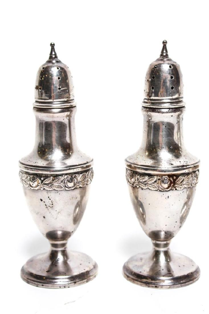 Sterling Silver Salt & Pepper Shakers Two Pairs - 2