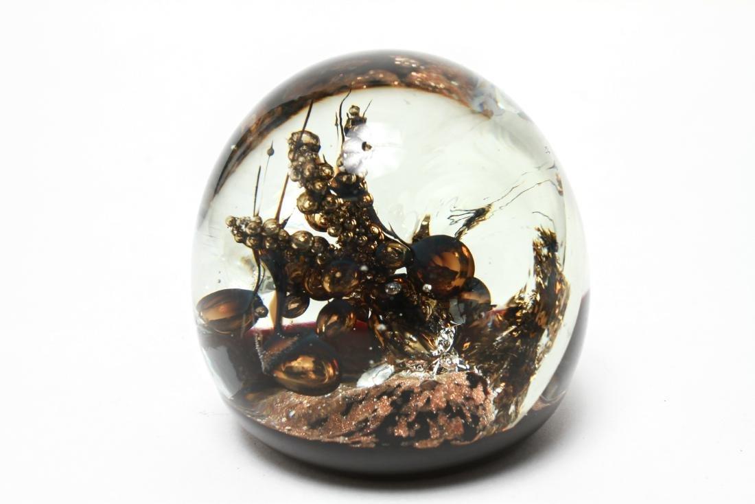 Three Art Glass Paperweights - 5