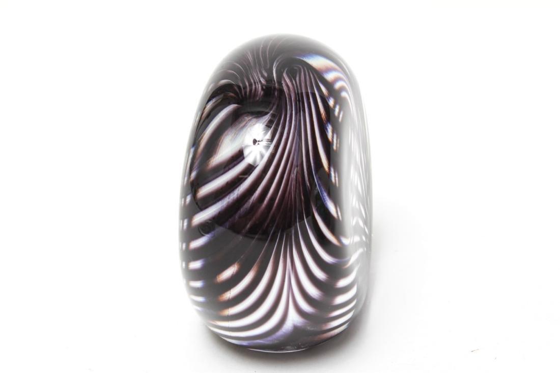 Three Neil Duman Art Glass Paperweights, Signed - 8