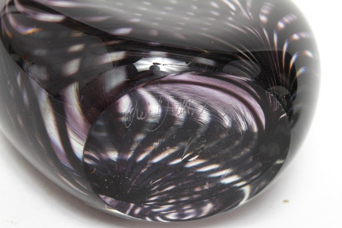 Three Neil Duman Art Glass Paperweights, Signed - 9