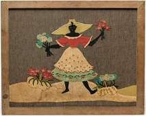 African Americana Folk Art Textile Embroidery