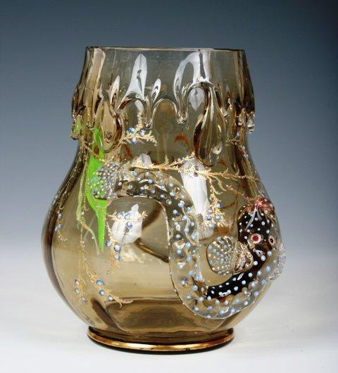 2001: Moser Enamelled & Gilt Glass Vase c1900