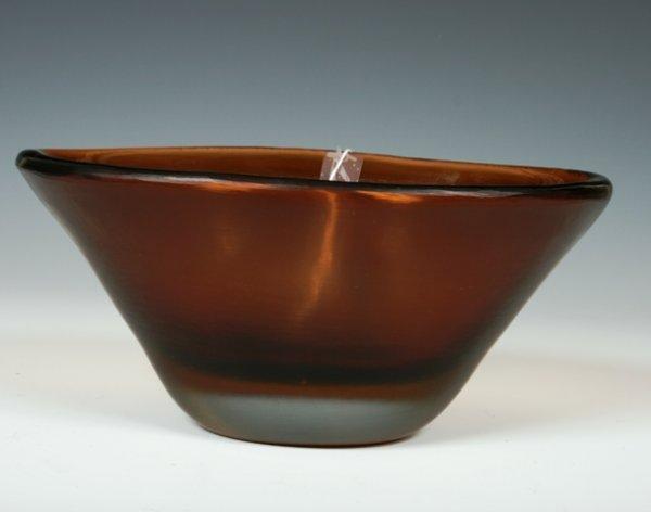 2002: Paolo Venini Inciso Amber Glass Vase c1956