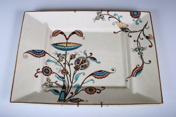 2009: 19th C Dresser Aesthetic Old Hall Ceramic Platter