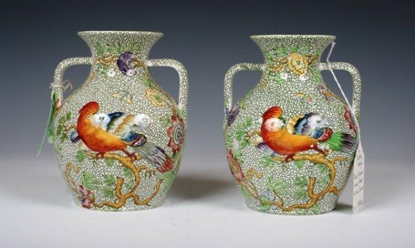 2010: A Pair of 19th C Spode Ceramic Porcelain Vases