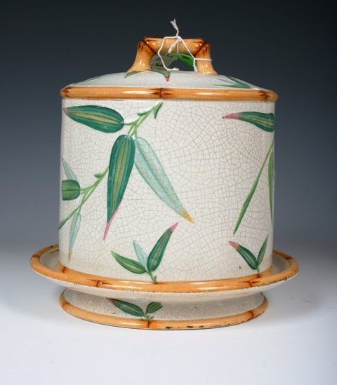 2011: Minton Ceramic Bamboo Cheese Done c1880s