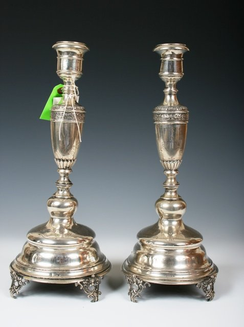 2017: A Pair of Austrian Sterling Silver Candelabrum