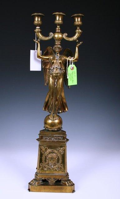 2018: Antique Empire Style Bronze Candelabrum