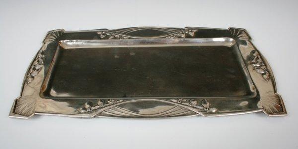 2022: Sterling Silver Austrian Art Nouveau Tray c1900
