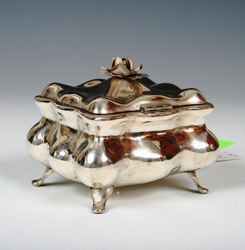 2023: French Baroque Sterling Silver Sugar Box c1800