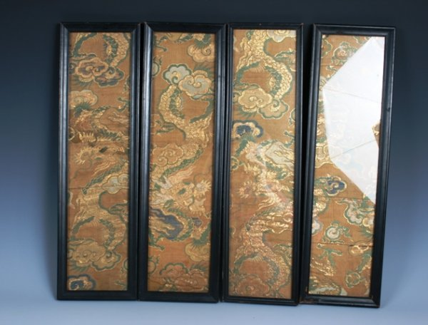 2064: 4 18th-19th C Chinese Textile Panels