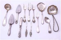 Sterling Silver Serving Utensils, 13 Pieces
