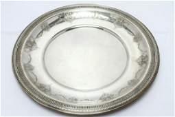 Edwardian Gorham Sterling Silver Charger Platter