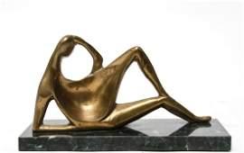 Henry Moore Manner Bronze Reclining Figure