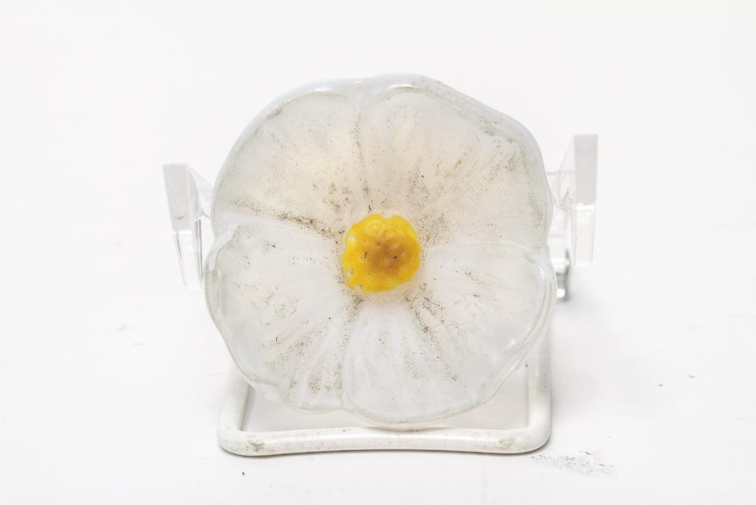 Daum France Satin Crystal Floral Sculptures, 3 - 9