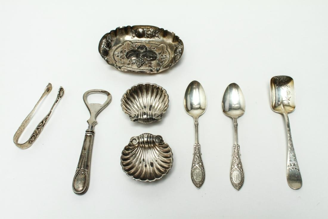 Sterling & Continental Silver Salts Spoons Other 8