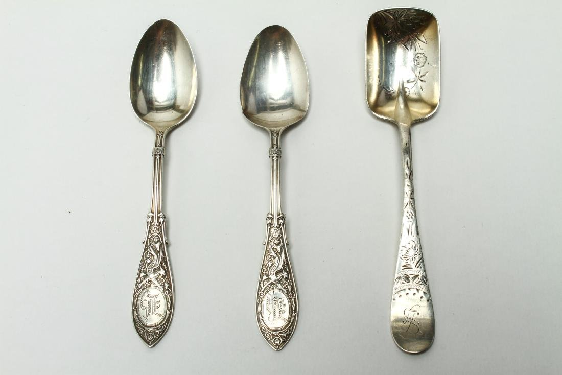 Sterling & Continental Silver Salts Spoons Other 8 - 5
