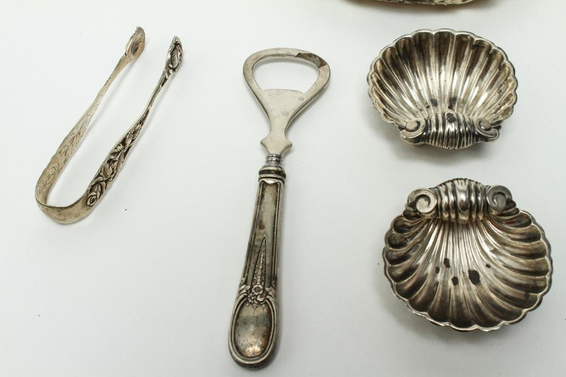 Sterling & Continental Silver Salts Spoons Other 8 - 6