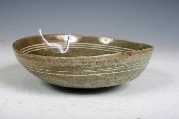 3: A Fine & Rare Korean Choson Punchong Inlaid Bowl