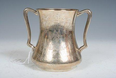 12: Tiffany Silver Trophy for Tug of War Contest 1905