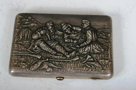 15: 19th C -20th C Russian Silver 84 Cigarette Case