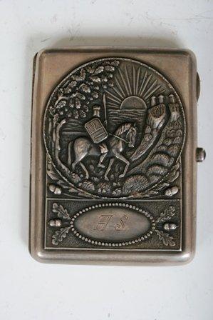 16: 20th C Russian Sterling Silver 875 Cigarette Case