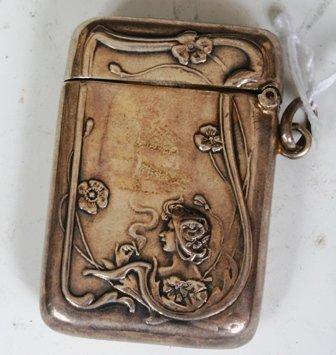 17: Sterling Silver Art Nouveau Lighter Case