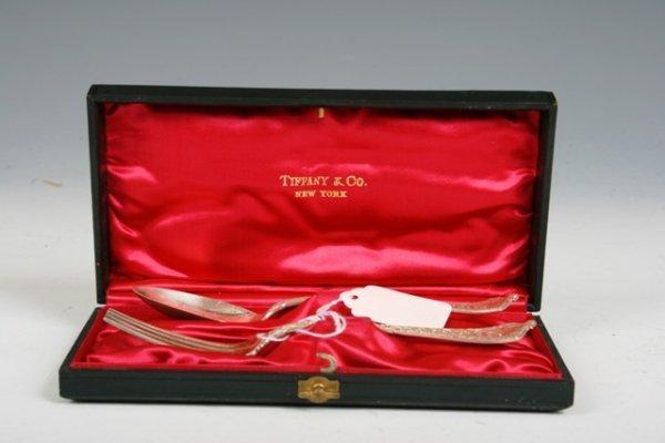18: Tiffany Silver Fork & Spoon Presentation Set 1872