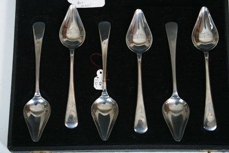 19: Set of 6 Firth Staybrite Dessert Spoons in Box