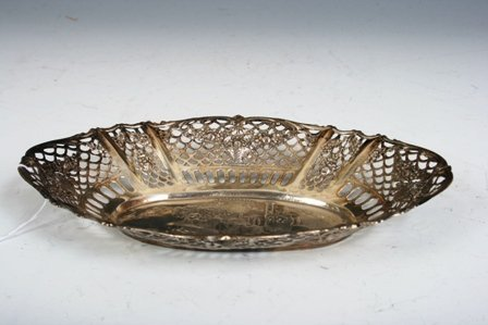 22: Judaica Israel Sterling Silver Dish with Scene of J