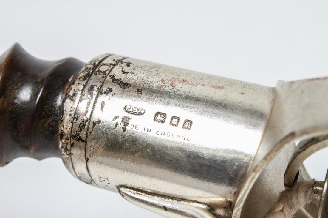Silver Antelope Horn Gimble Cigar Lighter Oil Lamp - 8