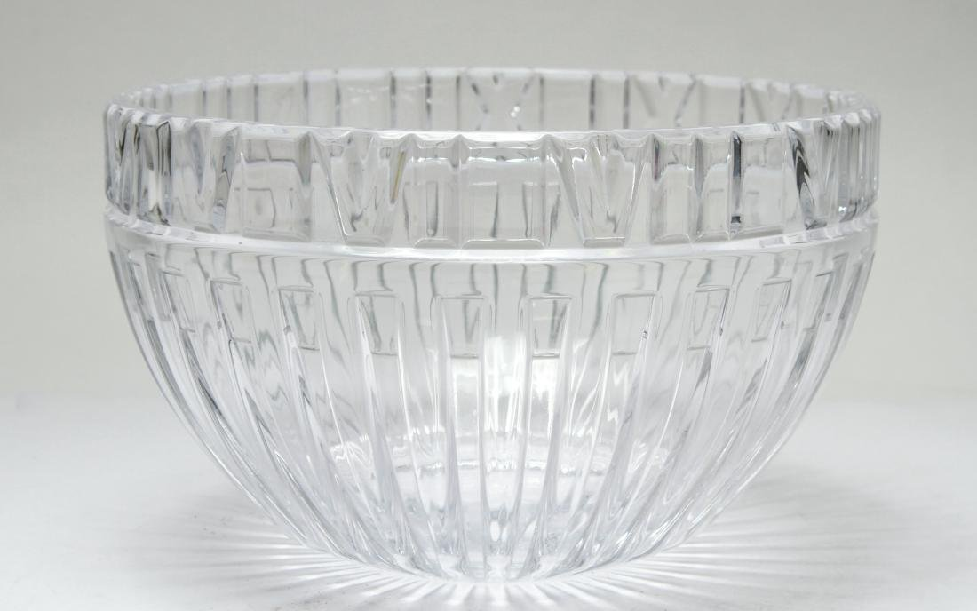 Tiffany & Co. Crystal Atlas Roman Numeral Bowl