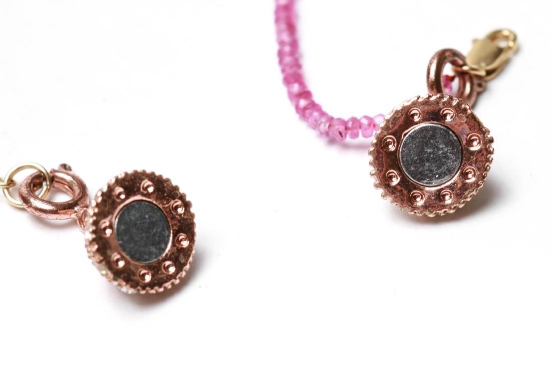 14K Gold & Diamonds Heart Pendant w Ruby Necklace - 5