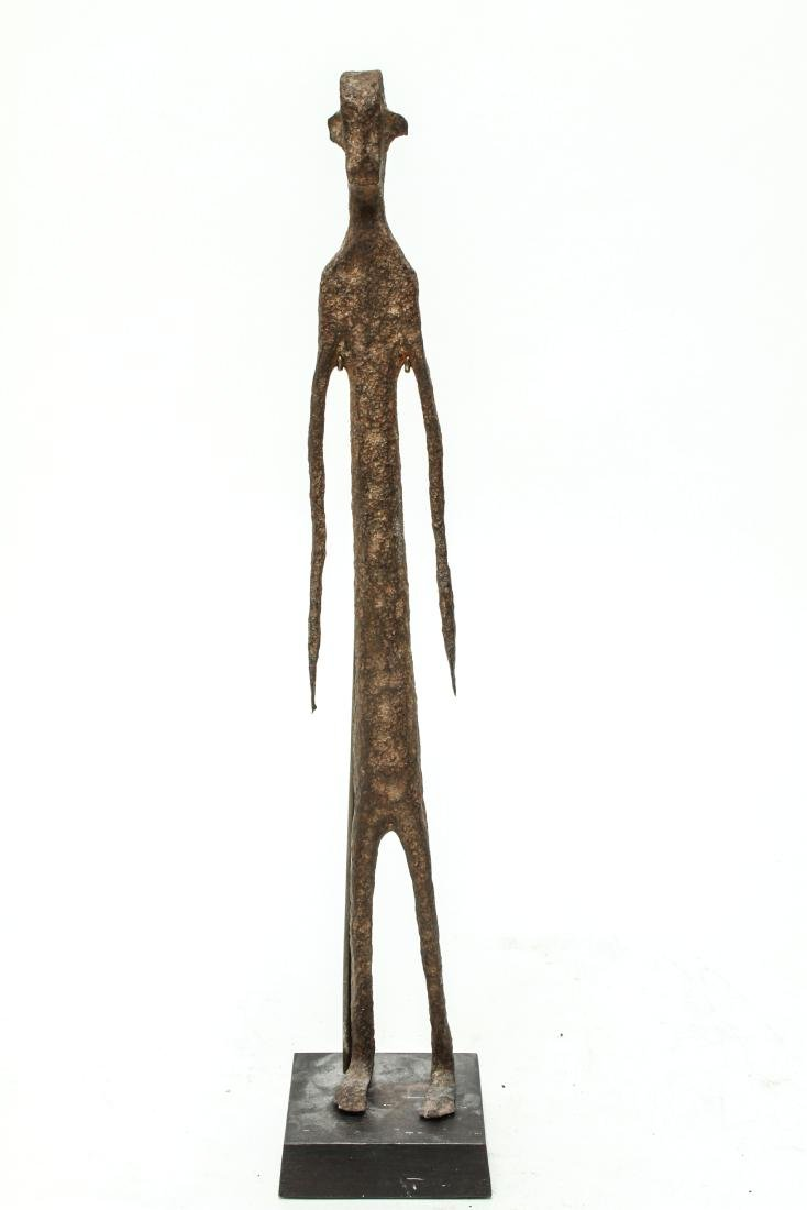 Giacometti Manner Modern Iron Figural Sculpture