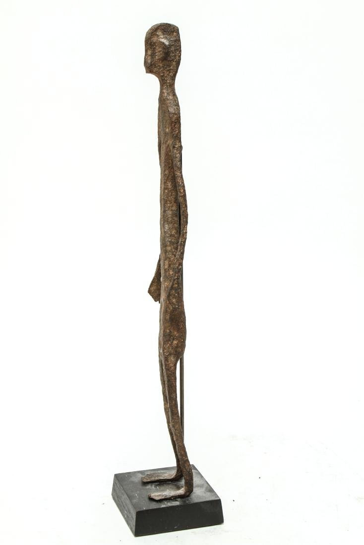 Giacometti Manner Modern Iron Figural Sculpture - 2