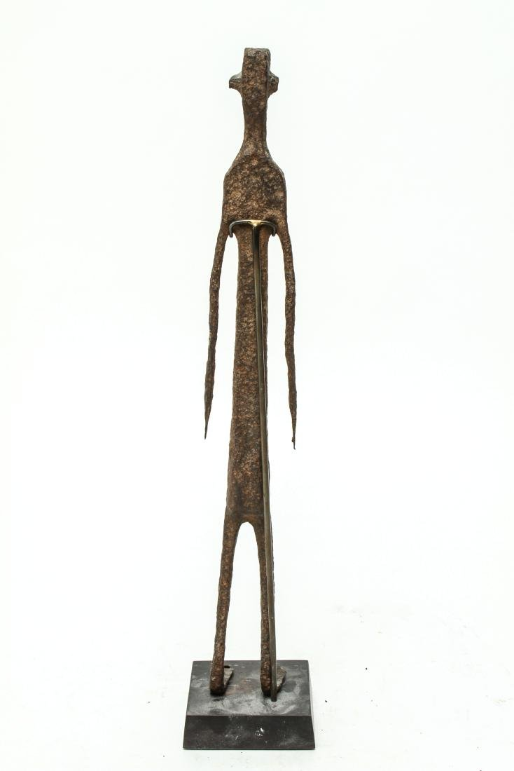 Giacometti Manner Modern Iron Figural Sculpture - 3