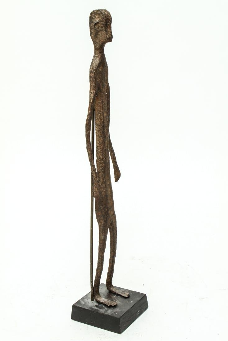 Giacometti Manner Modern Iron Figural Sculpture - 4