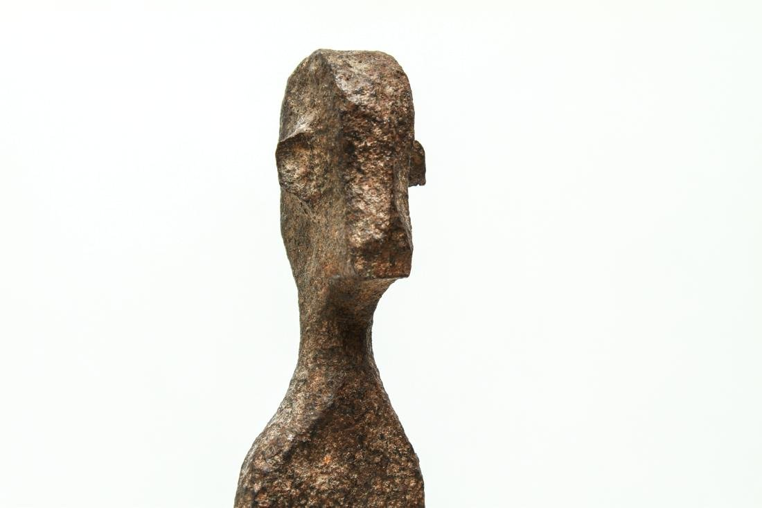 Giacometti Manner Modern Iron Figural Sculpture - 5