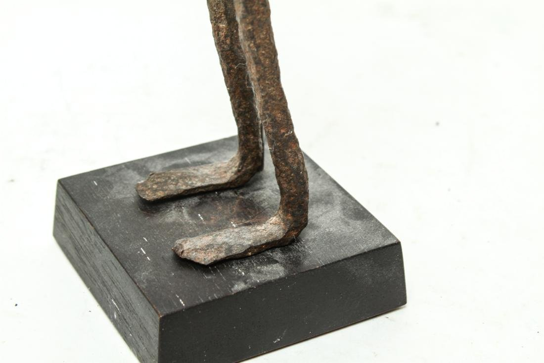 Giacometti Manner Modern Iron Figural Sculpture - 8