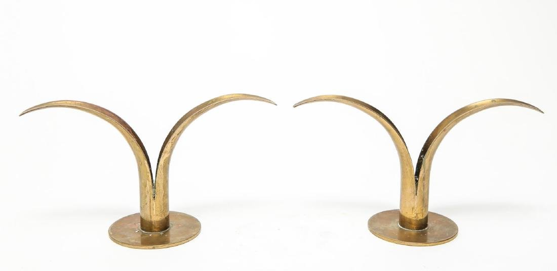 "Ystad-Metall ""Liljan"" Lily Candle Holders, Pair"