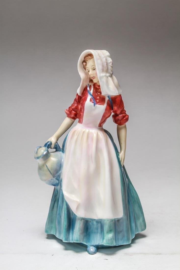 Royal Doulton Porcelain Figurines of Women, 6 Pcs - 4
