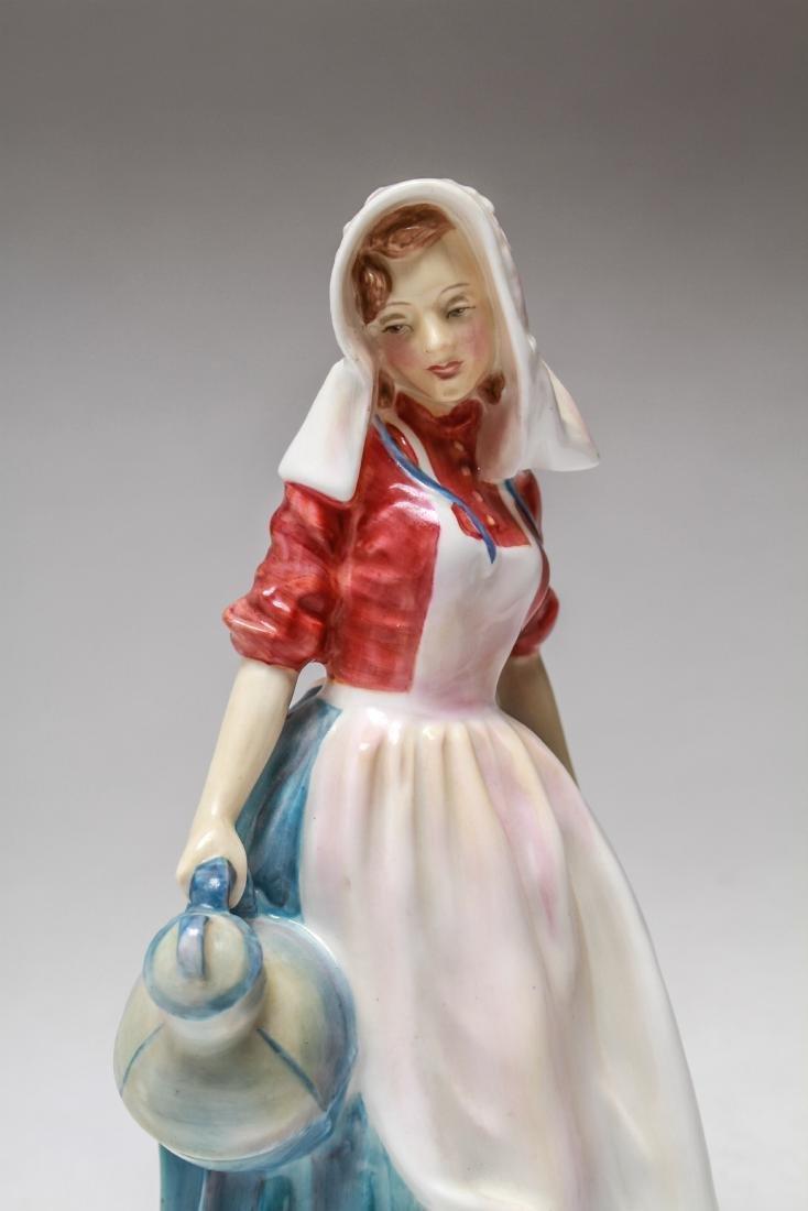 Royal Doulton Porcelain Figurines of Women, 6 Pcs - 6