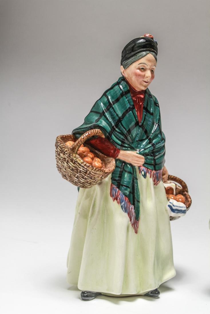 Royal Doulton Porcelain Figurines of Women, 6 Pcs - 7
