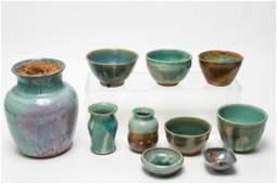 Studio Art Pottery Pieces Signed Rita & More 10 Pc