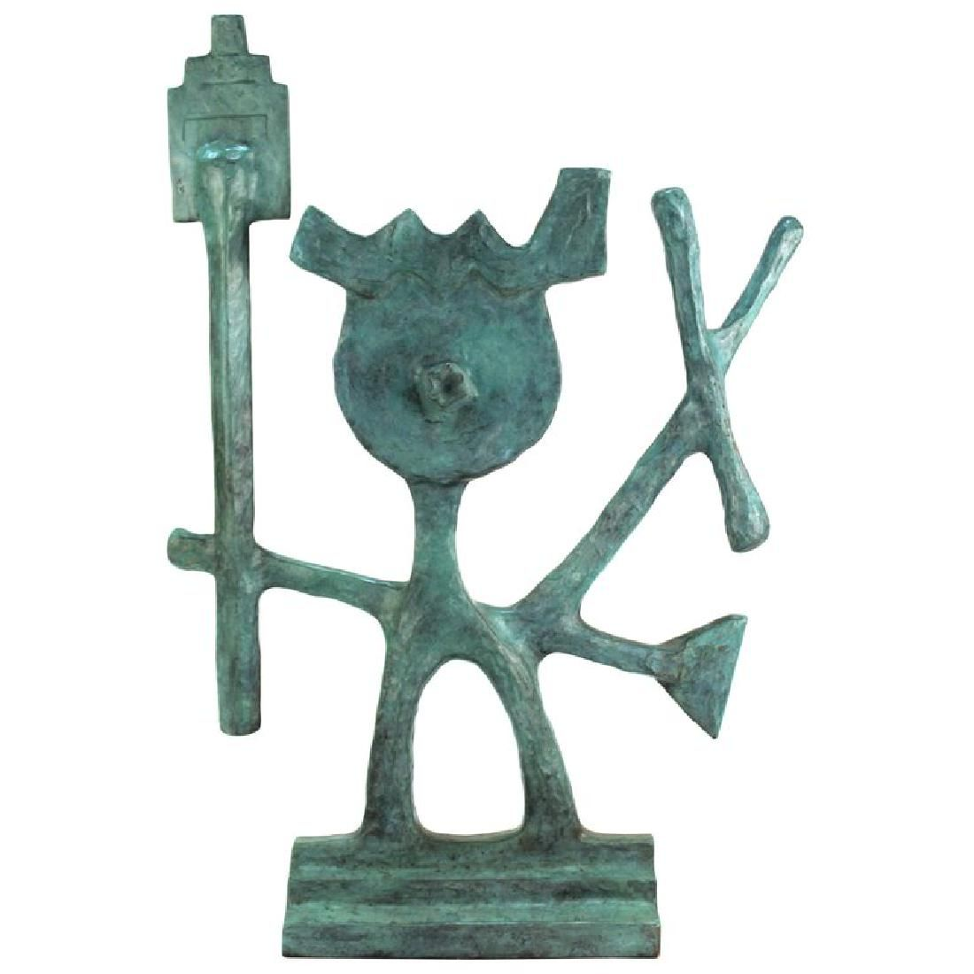 Oded Halahmy Bronze Abstract Figural Sculpture