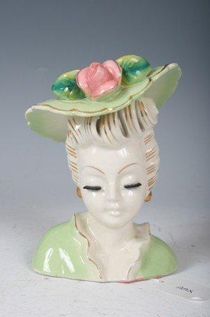 2002: Regency Lady with Green Hat Head Vase