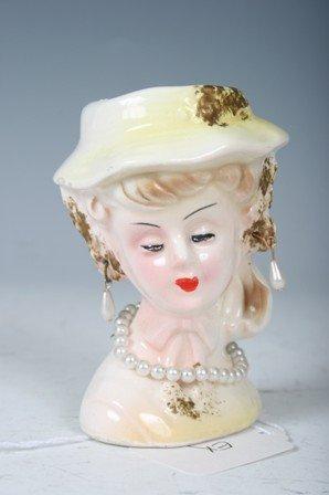 2005: Regency Ceramic Small Yellow Ladies Head Vase
