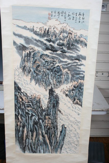 2008: 20th C. Chinese Scroll Painting of  Landscape