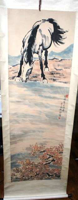 2009: 20th C. Chinese Scroll Painting of Horse