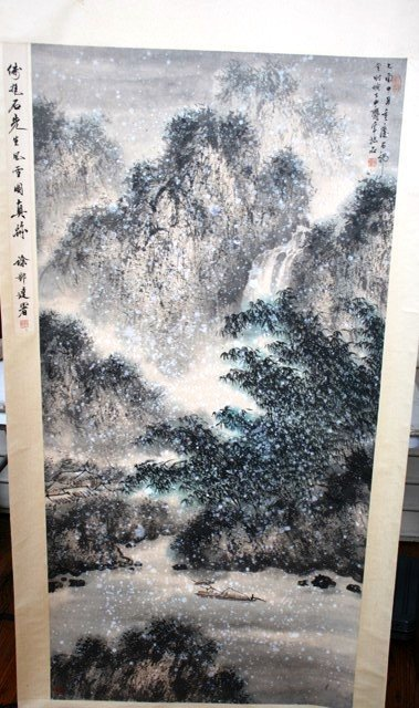 2010: 20th C. Chinese Large Scroll Painting Landscape